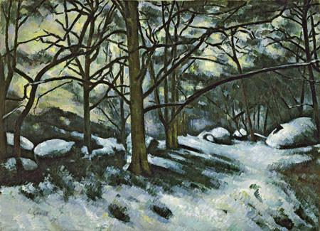Cézanne.Nieve fundiéndose en Fontainebleau,1879-1880.Museum Modern of Art.Nueva York.