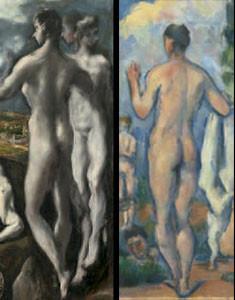 La matriz bizantina del arte cretense la simplificó Cézanne y otros artistas postimpresionistas.Incluso la supuesta torpeza de la figura humana de Cézanne advertía su vínculo con el Greco.