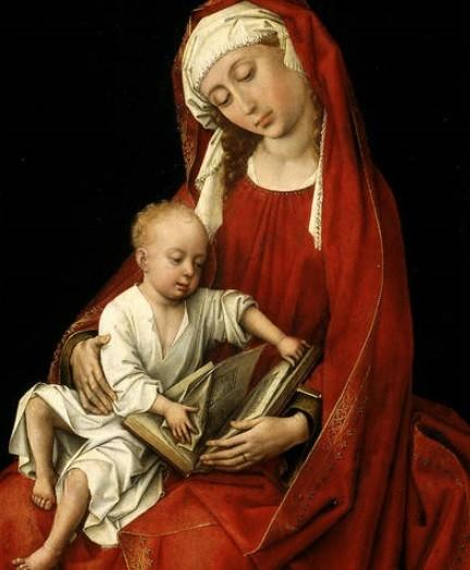 Las radiografías y las reflectografías infrarrojas revelan numerosos cambios,en el dibujo subyacente la Virgen aparece de frente con la mirada baja,tambien se modificaron los brazos y piernas del Niño.