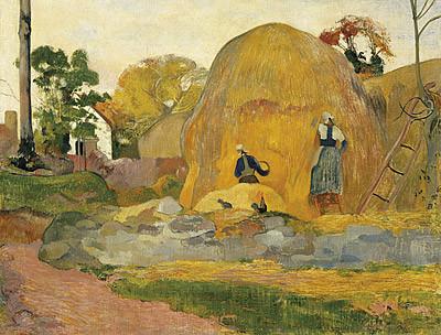 P.Gauguin.Les maules jaunes,1889. Espacio natural trasformado y sublimado.Colores arbitrarios.Enigmática composición sintética.