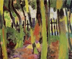 André Derain.Claro del Bosque 1906.Óleo sobre lienzo.31x37cm.Fondation Bemberg Touluse.