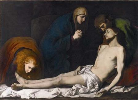 Lamentaciones sobre el cuerpo de Cristo muerto,1620-23,Londres,National Gallery.