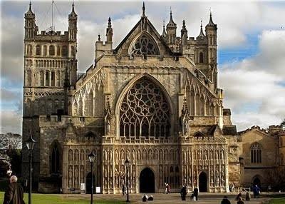 Fachada de la Catedral de Exeter. S XIV. Gran Bretaña