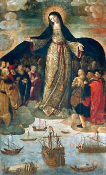 Virgen de los Navegantes. Alejo Fernández. Alcázar de Sevilla
