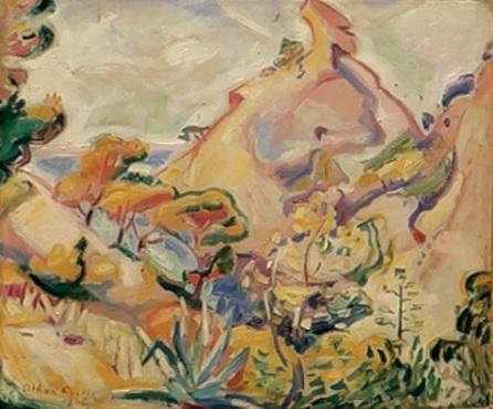 Émile Othon Friesz. El Bec de l´Aigle à la Ciotat, 1906. Musées de Béziers.