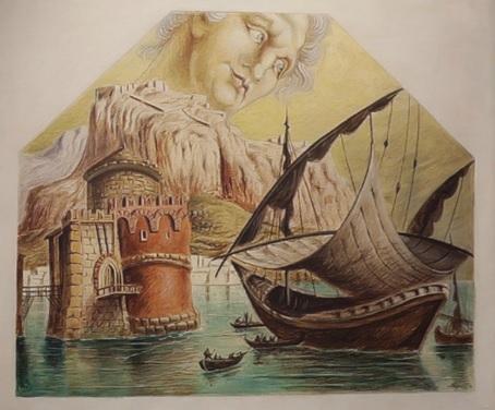 Alberto Savinio.La partida de los Argonautas,1933.Museo de Arte Moderno y Contemóráneo di Trento e Rovereto