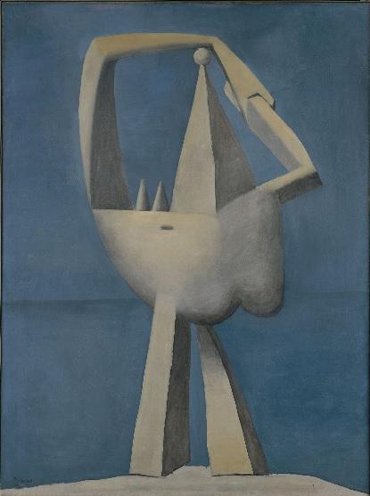 Desnudo de pie al borde del mar 1929.Óleo sobre lienzo.130x97cm. Metropolitan Museum of Art.