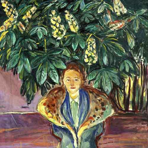 Bajo el castaño,1937.Óleo sobre lienzo.116x119cm.Munch Museet,Oslo