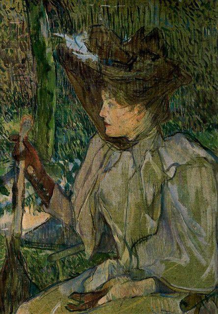 Toulouse Lautrec.La mujer con guantes 1890.Óleo sobre cartón, 54x40cm. Musée d´Orsay