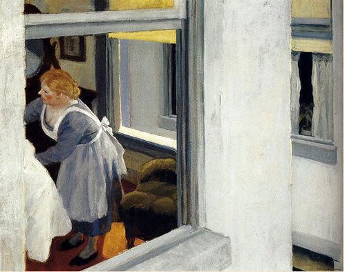 Hopper, Apartment Houses, Óleo sobre lienzo, 61x73 cm, Pensylvania Academy of the Fine Arts, Filadelfia. 1923 Un juego interior-exterior casi claustrofóbico ¿Donde situa al espectador?