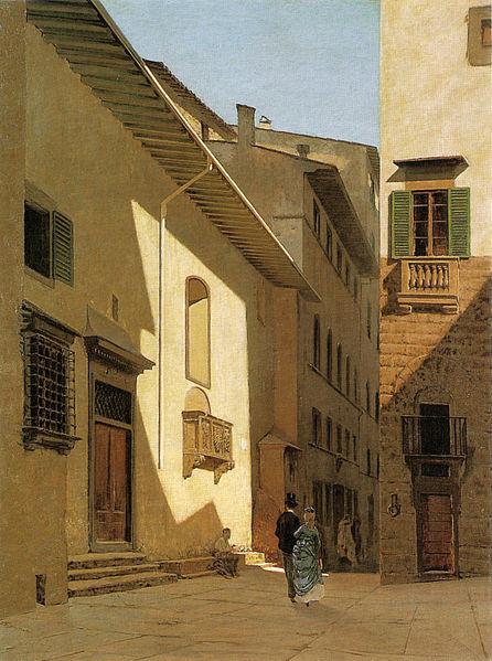 Telemaco Signorini.Sta Maria dei Bardi en Florencia.1870.Óleo sobre lienzo.86x66cm.Instituto Matteucci,Viareggio