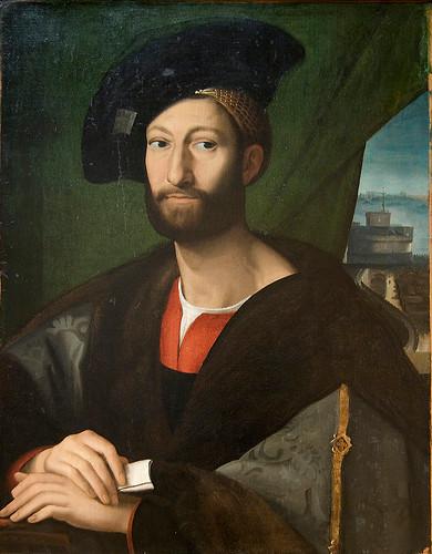 Giuliano de Medicis. Rafael y taller. 1515. Temple y óleo sobre lienzo. Museo Metropolitano de Nueva York.