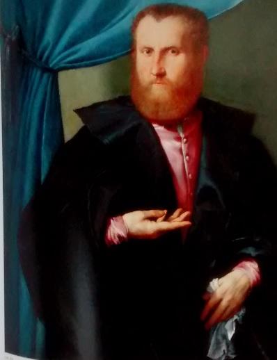 Retrato de un hombre con barba 1540.Óleo 97x85cm.Nueva Orleans Museum of Art..Tal vez, el retrato mas desconocido de Lotto, despierta una notable intimidad.Semblante adusto, singular por ser rubio y ojos azules, de tres cuartos esquema habitual.