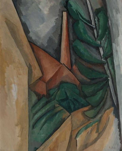 Raoul Dufy.Usine à LÉstaque.Óleo sobre lienzo,73x60cm.Musée Cantini,Marsella.