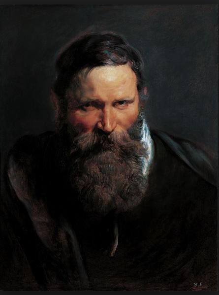 "Cabeza de hombre con barba,1612.Liechtenstein,The Princely Collection,Viena..A pesar de su aspecto acabado,se trata de un estudio de cabeza para un gran cuadro narrativo denominado ""rostros del natural""."
