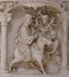 Detalle de Jesús entrando en Jerusalén