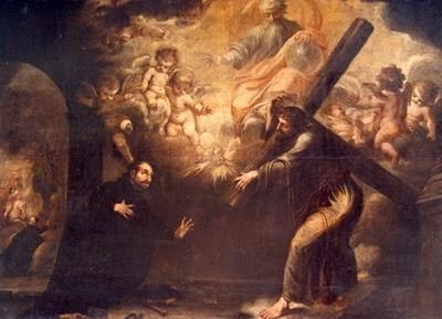 Valdes Leal, 1674, Visión de San Ignacio en el camino a Roma., Parroquia de San Pedro, Lima