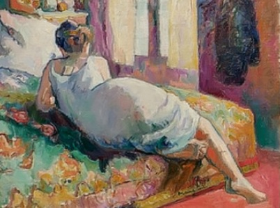 Henri Manguin.Jeanne en camisón 1905.Colección particular.