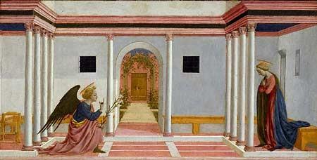 Anunciación.Doménico Veneziano