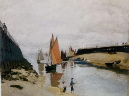 Claude Monet.Los muelles de Trouville,marea baja 1870.Szémüvészeti Múzeum,Budapest.