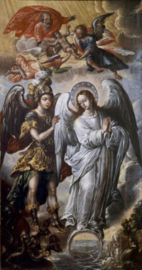 Virgen del Apocalípsis, Juan Correa, novohispano 1647-1717,Museo Nacional del Virreinato, Tepotzotlán, Méjico