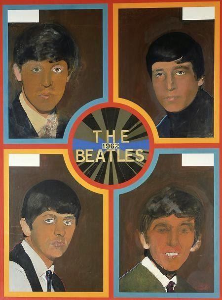 Peter Blake, The Beatles,1963.Este artista gráfico británico, exponente del Pop Art y de la iconografía del comic tras el verdadero éxito comercial de los Beatles a finales del 62, tb diseñó la cubierta del mítico disco Sgt Pepers Lonely Hearts.