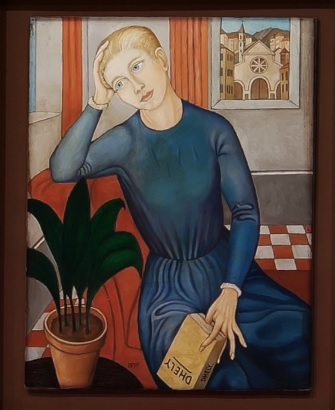 Ubaldo Oppi.La muchacha sentimental.1920-22.Museo de Arte Contemporáneo di Trento  e Rovereto.
