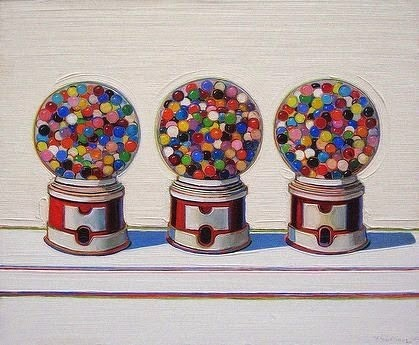 Wayne Thiebaud,Tres máquinas 1963.Fine Arts Museum of San Francisco.