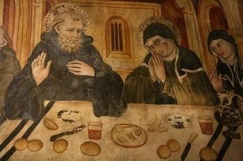 San Benito y Santa Escolástica, su hermana.