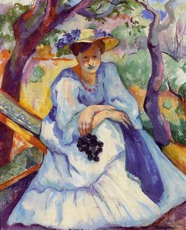 Henri Manguin.La mujer del racimo 1905.Colección Fundación Pierre Gianadda  Martigny.