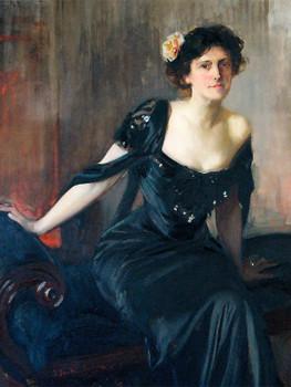 Mrs.William H. Gratwick,Emilie Victorine Piolet Mitchell Gratwick.1909.Óleo sobre lienzo.152x99cm.Cortesia de Emilie Mitchell Gratwick Lewis.