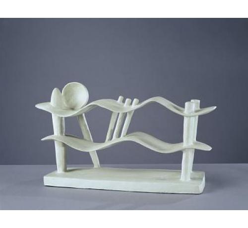 Giacometti,mujer acostada soñando 1929..Bronce pintado,23x42x14cm.Hirshhorn Museum Washington. El escultor sintetiza una figura del sueño dulce y abacible en forma de jeroglífico de una lengua primitiva asociando el cuerpo femenino al mar con ondulaciones