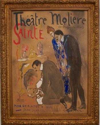 Pablo Picasso. Théâtre Molière Sainte Roulette. Paris 1904. Gouache y acuarela sobre papel vitela. 118x87cm. Museo Nacional Picasso,Paris.