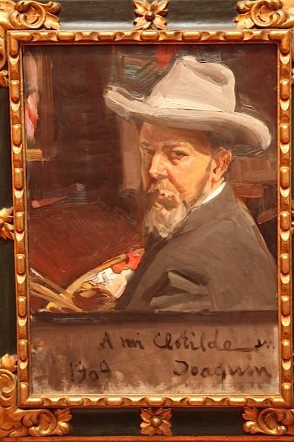 """Autorretrato de Sorolla """"A mi mujer Clotilde"""".1909.Óleo sobre lienzo.70x75cm.Museo Sorolla.El tratamiento de la luz, la pincelada rápida, paleta tornasolada, vigorosa, eficaz son la esencia de la modernidad, identificándole con el impresionismo."""