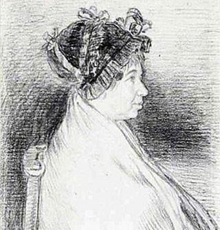 Dña Josefa Bayeu, 1805,lápiz sobre papel.