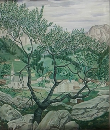 Ubaldo Oppi.Paisaje de montaña.Amedeo Porro Fine Arts,Lugano.