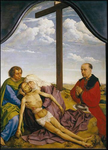 Roger van der Weyden.La Piedad.1450.Óleo sobre tabla.46x34cm.