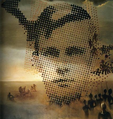 Dalí,Retrato de mi hermano muerto, 1963.Su obra será una referencia constante al hermano que murió antes de nacer él.