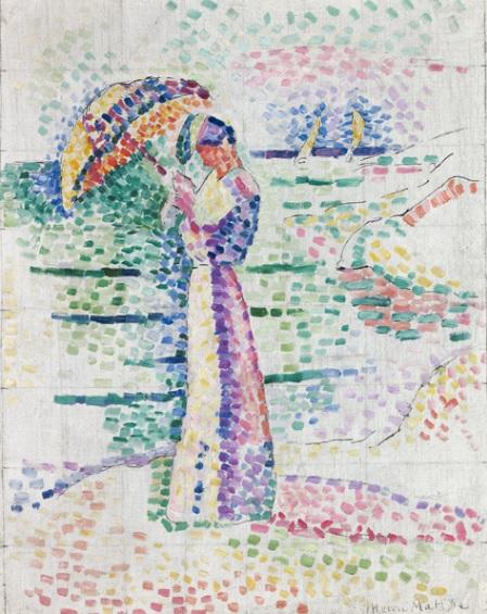H. Matisse.Figura con sombrilla. Musée Matisse. Niza.Matisse parece controlar de forma sistemática desde el control de la composición con inteligencia y pasión.