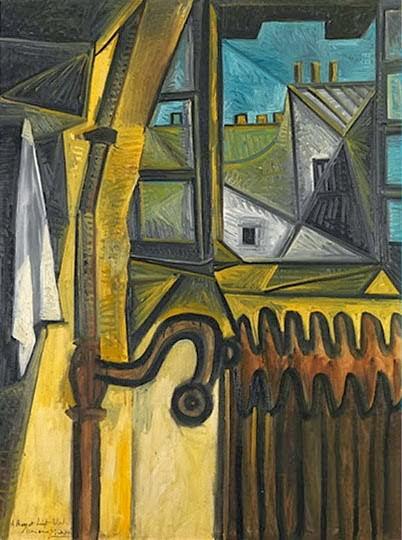 Ventana del taller,Paris 1953.130x96cm,Chigago.