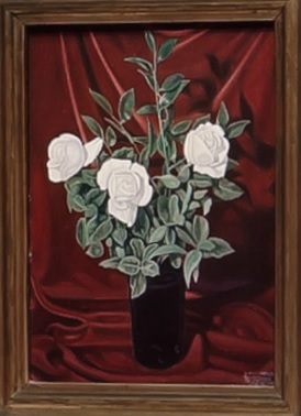 Cagnaccio di San Pietro Jarrón de rosas 1929.Colección particular.