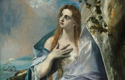 Tras el Concilio de Trento fue ejemplo para los cristianos los santos penitentes.El Greco  encarna el fulgor de la llama de la fe, con deseo de redención en su Magdalena penitente, aunque en él, lo trascendente es lo que cobra forma.