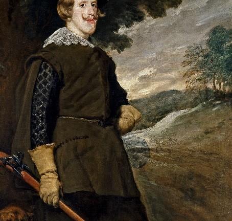 Como recurso estético y compositivo Velázquez coloca tras la figura del Rey un árbol para hacer destacar su rostro. En la posición de su mano y pierna izquierdas y en la boca de arcabuz se aprecian algunos arrepentimientos