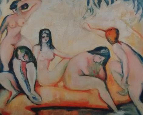 Othon Friesz.Les baigneuses o Señoritas de Marsella.Óleo sobre lienzo.115x122cm. Asociacion de Amigos de Petir Palais,Ginebra.
