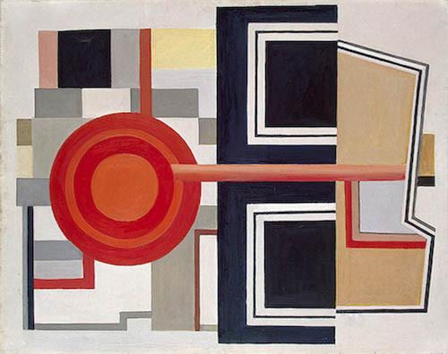 """Fernand Léger.1924. Composición.Los elementos geométricos forman parte de un mecanismo, con carriles, pistones o manivelas...es la """"iconografía de la máquina"""" que provoca la percepción de movimiento."""