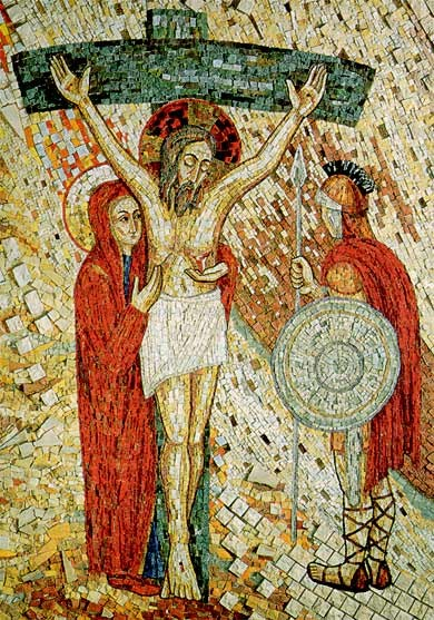 Redemptoris Mater.Mosaico. Ciudad del Vaticano