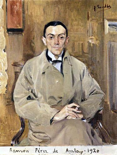 Sorolla.Ramón Perez de Ayala 1920. Autor de novelas poesias y ensayos.