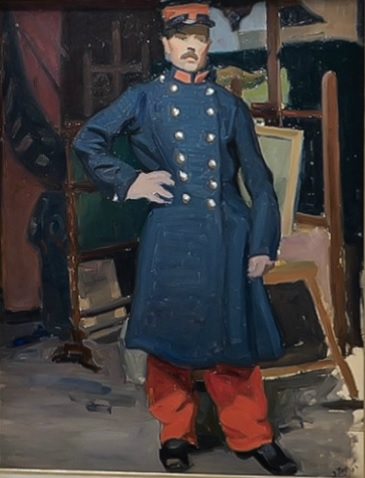 Jean Puy.Retrato de soldado 1903. Musée de Beaux Arts,Reims. Durante los primeros años los ex alumnos de Moreau cultivaron un estilo claramente deudor del impresionismo y el neoimpresionismo.