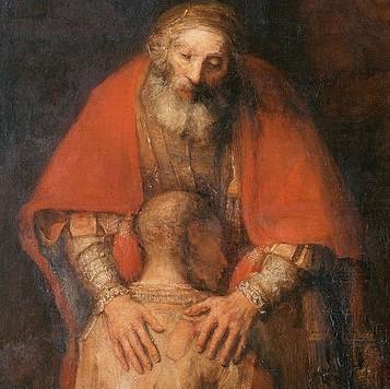 Gran belleza y fuerza dramática en esta paternidad espiritual de Rembrandt, que absorbe la pobreza del hijo. Todo un recorrido humano..el dolor, perdón y generosidad,3 vias en las que el Padre crece en mi interior...para poder reflejar la ternura de Dios.