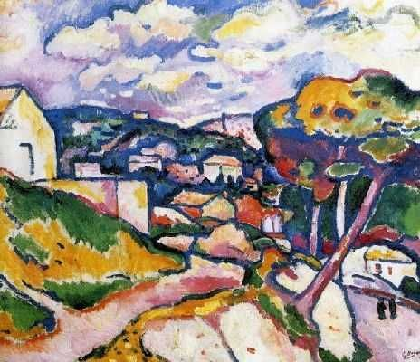 Georges Braque.Paisaje en LÉstaque.1906.Óleo sobre lienzo.60x73cm.Centre Pompidou.Museo Nacional de Arte Moderno.Paris.